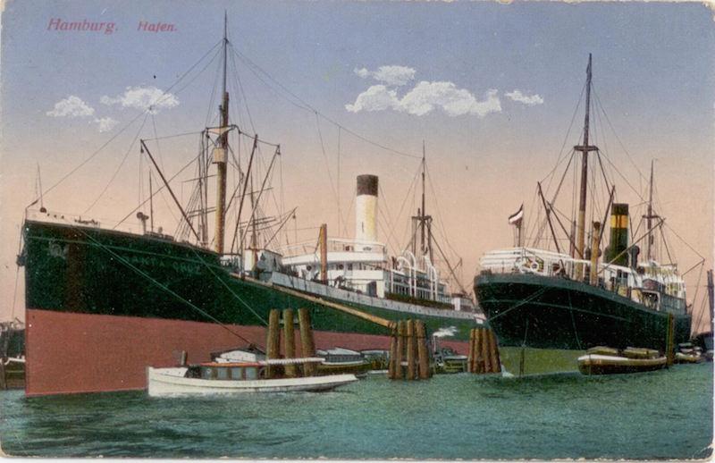 Hamburg postcard, 1917